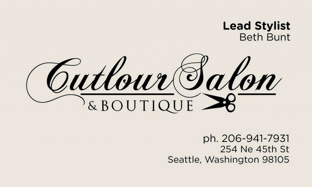 Cutlour Salon & Boutique | Logo and Card Design
