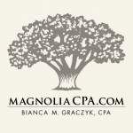 Magnolia CPA Logo Design and Marketing Graphics