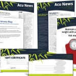 Digital Subscription Service Download Templates for Acupuncture Media Works