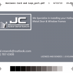 Logo & Business Card | JC Hollow Metal Rework